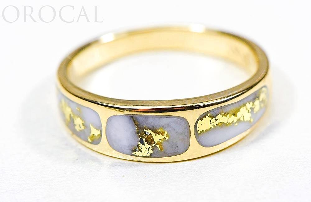 "Gold Quartz Ladies Ring ""Orocal"" RL653Q Genuine Hand Crafted Jewelry - 14K Gold Casting - Liquidbullion"