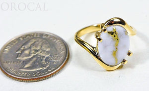 "Gold Quartz Ladies Ring ""Orocal"" RL994LQ Genuine Hand Crafted Jewelry - 14K Gold Casting - Liquidbullion"
