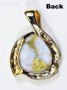"Gold Quartz Pendant ""Orocal"" PDL105D50QX Genuine Hand Crafted Jewelry - 14K Gold Yellow Gold Casting - Liquidbullion"