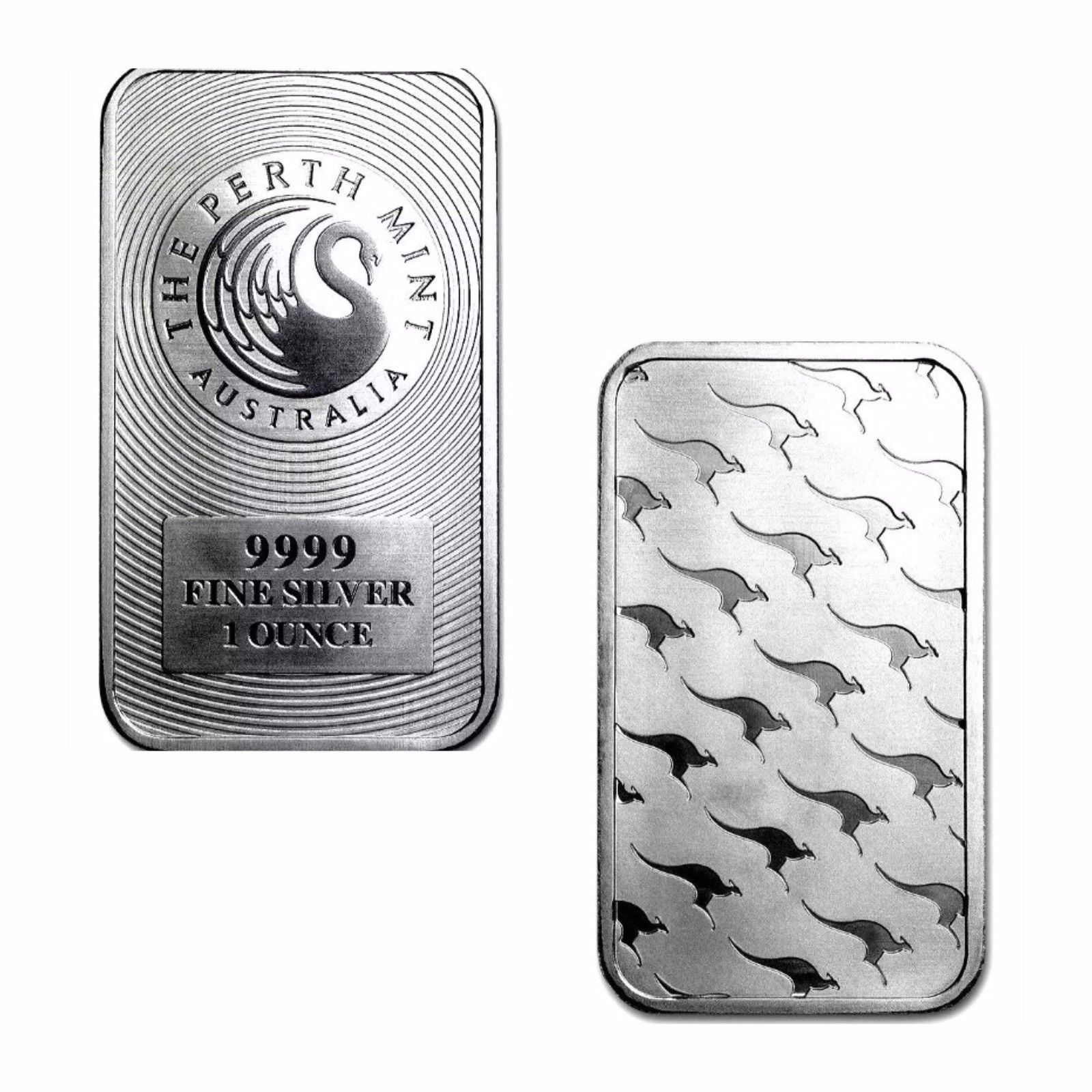 1 TROY OZ .999 SILVER PERTH MINT KANGAROO BAR BU + 50 PIECE ALASKAN PURE GOLD NUGGETS - Liquidbullion
