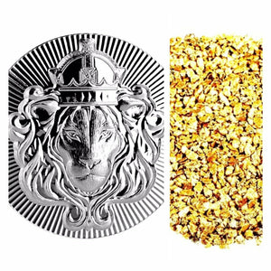 2 TROY OZ .999 SILVER SCOTTSDALE MINT STACKER BU + 10 PIECE ALASKAN PURE GOLD NUGGETS - Liquidbullion