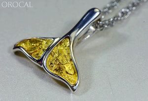 Gold Nugget Pendant Whales Tail - Sterling Silver - Special PDLWT113NSS - Hand Made - Liquidbullion