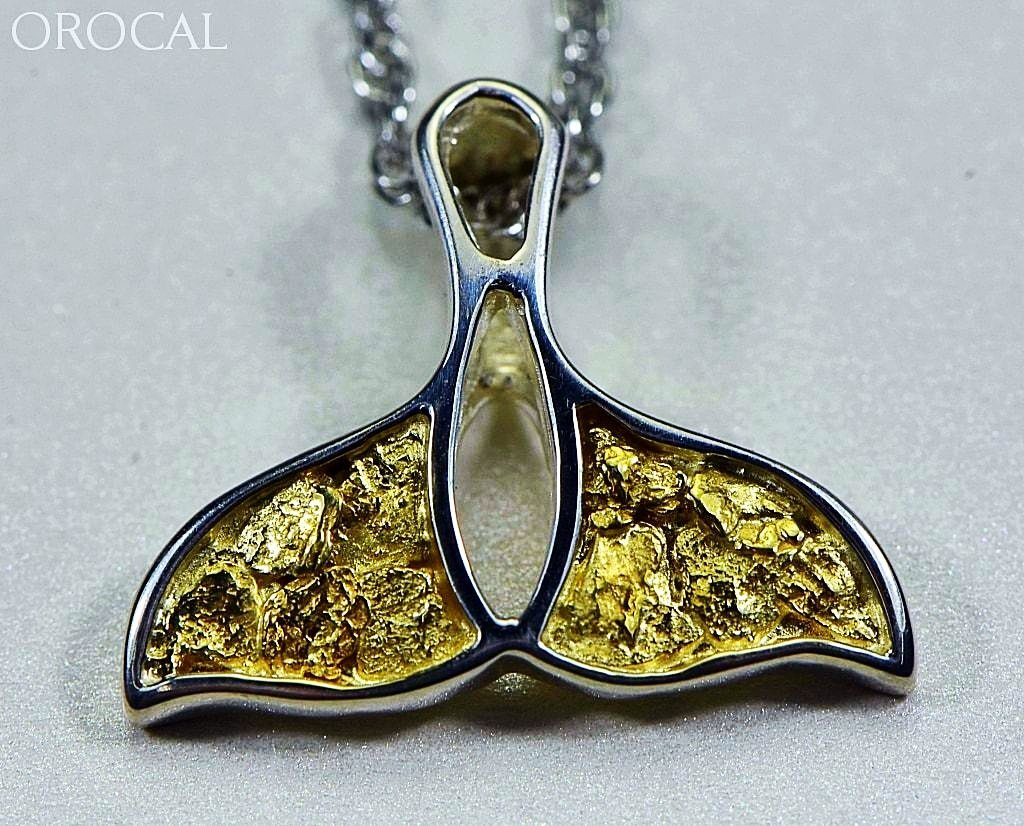Gold Nugget Pendant Whales Tail - Sterling Silver - Special PWT26NSSX - Hand Made - Liquidbullion