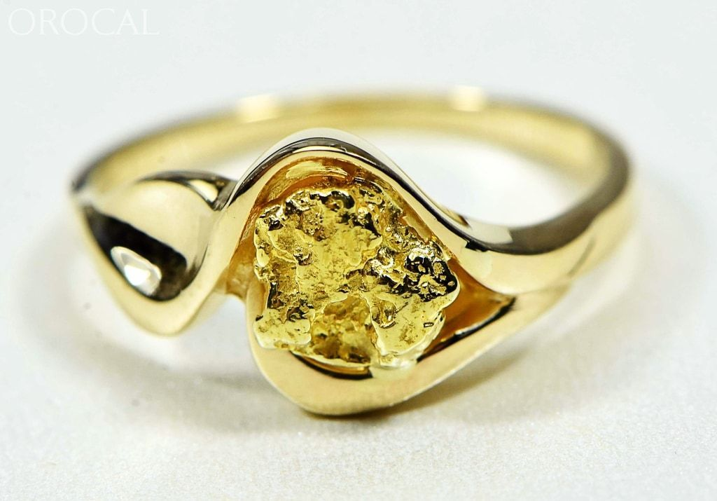 "Gold Nugget Women's Ring ""Orocal"" RL509 Genuine Hand Crafted Jewelry - 14K Casting - Liquidbullion"