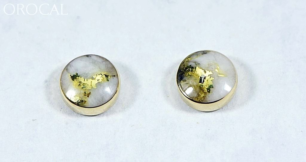 "Gold Quartz Earrings ""Orocal"" EBZ5MMQ Genuine Hand Crafted Jewelry - 14K Gold Yellow Gold Casting - Liquidbullion"