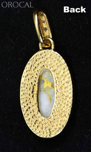 "Gold Quartz Pendant ""Orocal"" PN1049DQX Genuine Hand Crafted Jewelry - 14K Gold Yellow Gold Casting - Liquidbullion"