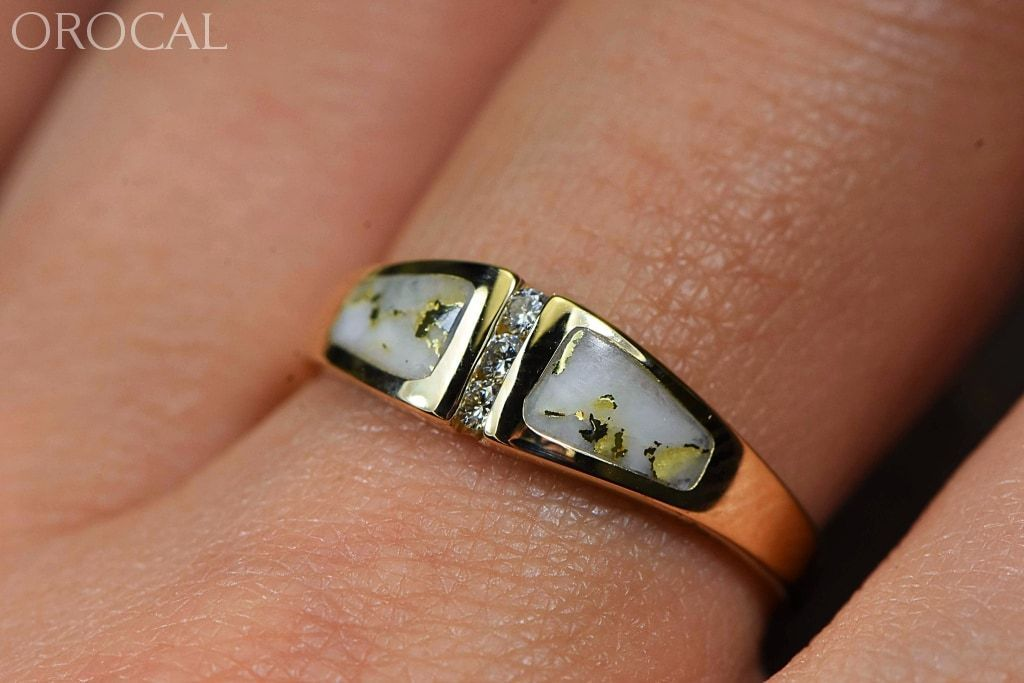 "Gold Quartz Ring ""Orocal"" RL1057DQ Genuine Hand Crafted Jewelry - 14K Gold Casting - Liquidbullion"