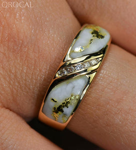 "Gold Quartz Ring ""Orocal"" RL610D10Q Genuine Hand Crafted Jewelry - 14K Gold Casting - Liquidbullion"