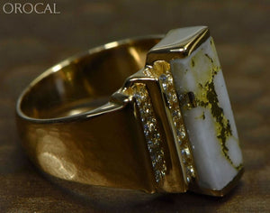 "Gold Quartz Ring ""Orocal"" RL639LD80Q Genuine Hand Crafted Jewelry - 14K Gold Casting - Liquidbullion"