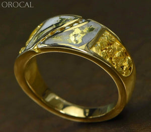 "Gold Quartz Ring ""Orocal"" RM731D14NQ Genuine Hand Crafted Jewelry - 14K Gold Casting - Liquidbullion"