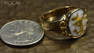 "Gold Quartz Ring ""Orocal"" RM794NQ Genuine Hand Crafted Jewelry - 14K Gold Casting - Liquidbullion"