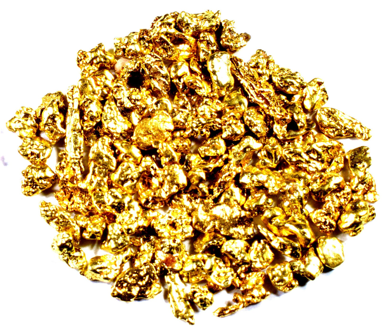 2.000 GRAMS ALASKAN YUKON BC NATURAL PURE GOLD NUGGETS #14 MESH - Liquidbullion