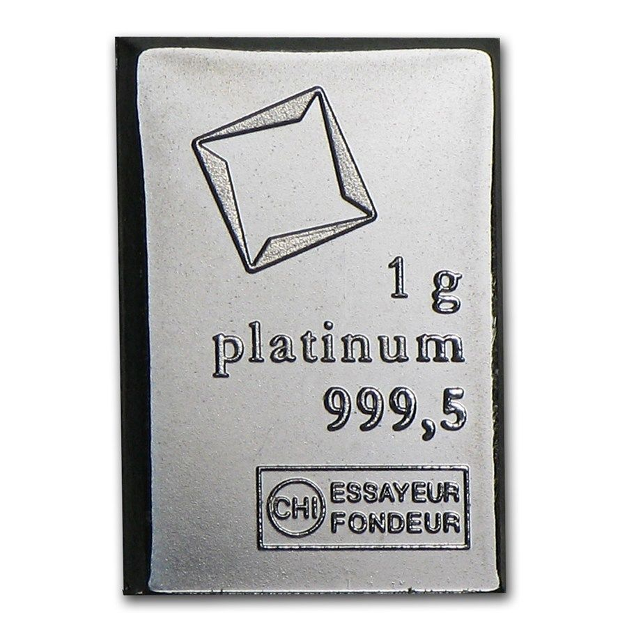 1 GRAM VALCAMBI .9995 FINE PLATINUM BULLION BAR FROM NEW SHEET OF 50 - Liquidbullion