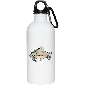 Pete the Pissed Off Turtle 20 oz. Stainless Steel Water Bottle