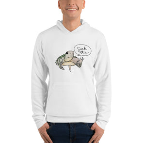 White Pete the Pissed Off Turtle Hoodie