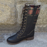 Mens Retro Handcrafted Lace High Top Boots