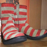Men's Retro Stripe Biker Boots