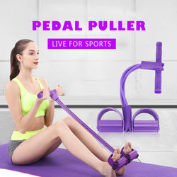 Pull Rope Fitness Band With Resistance Pedal - Randomella