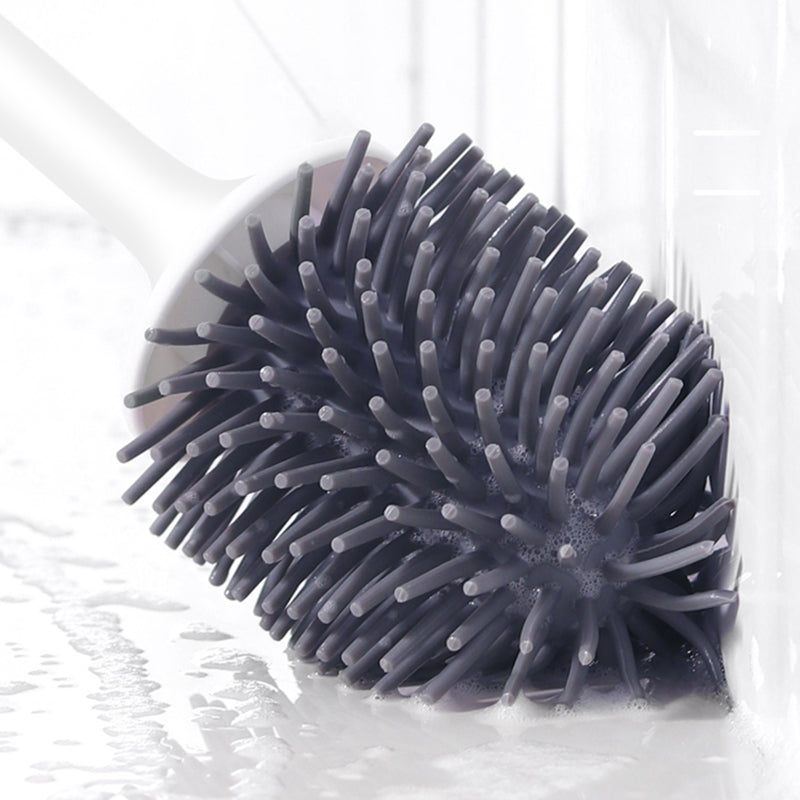 Silicone Toilet Brush Soft Bristle Wall-mounted