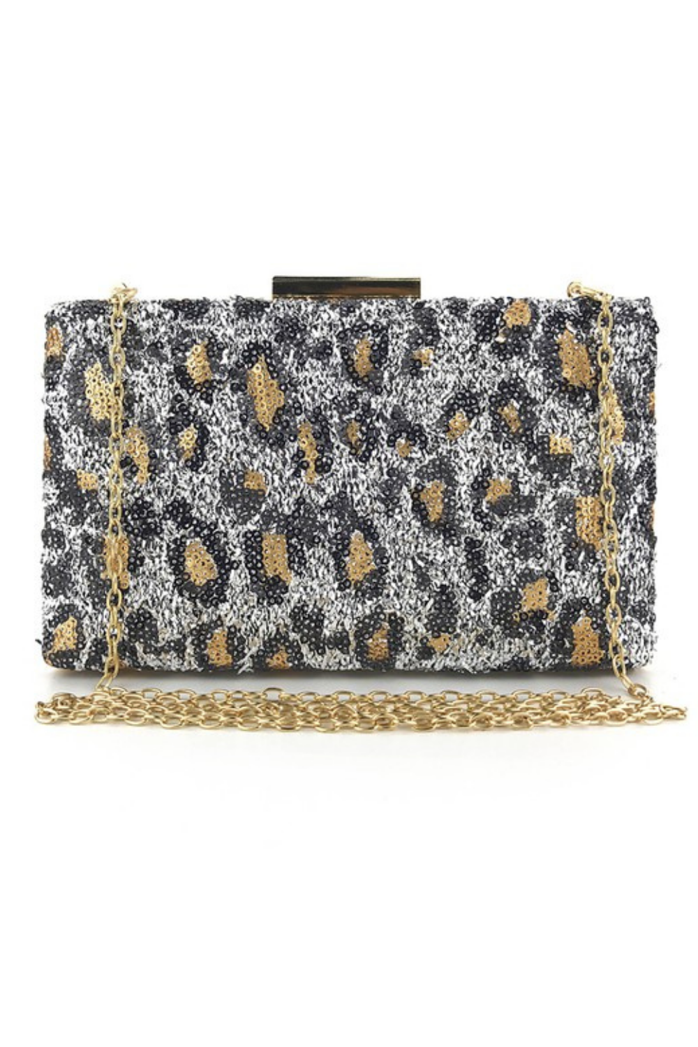 LEOPARDS A NEUTRAL BAG - SILVER