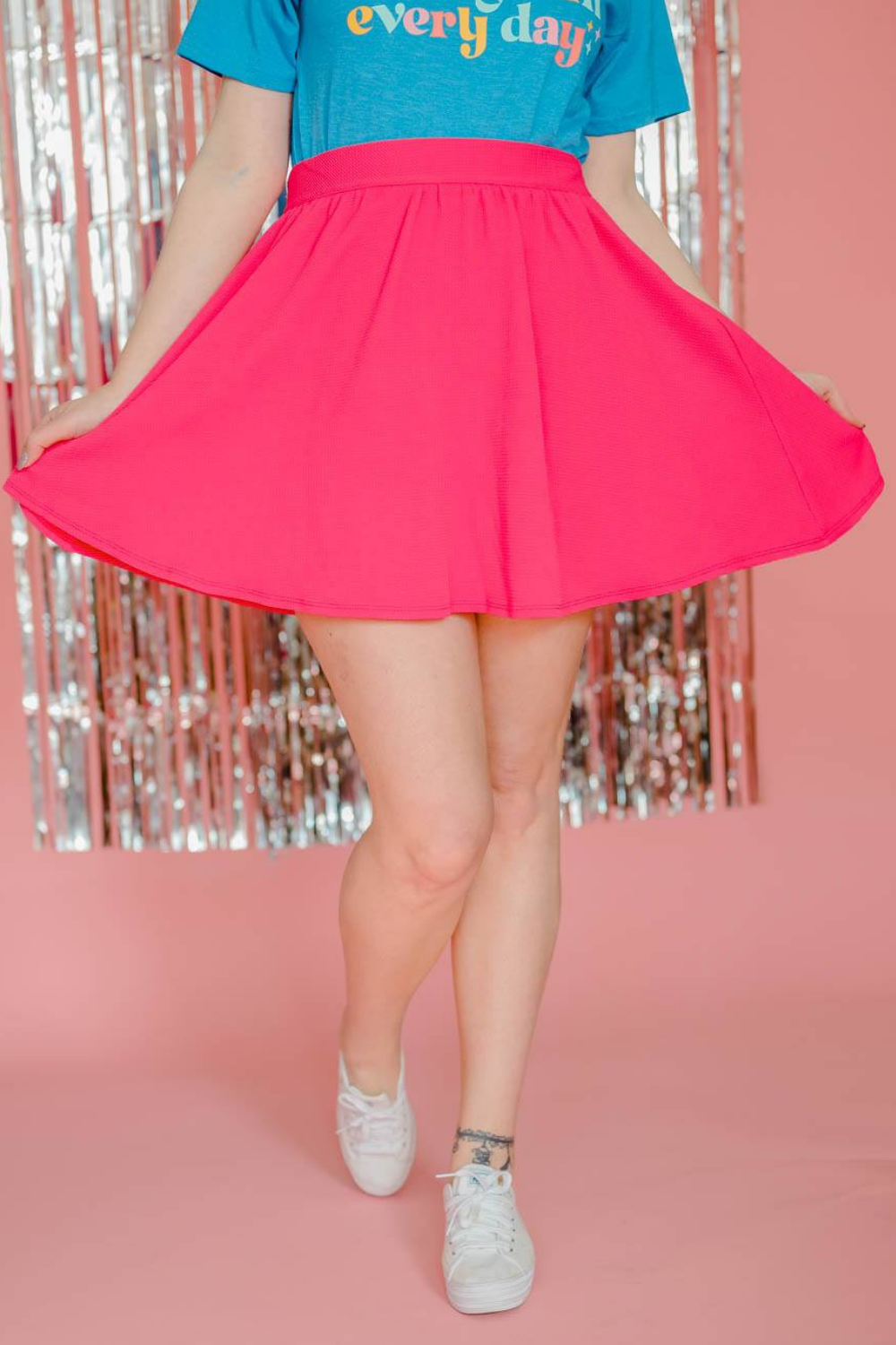 SAY SO KNEE LENGTH SKATER SKIRT