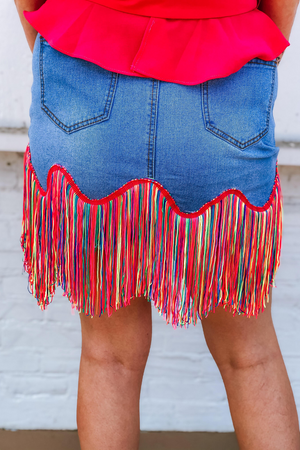 FRINGE FEELS SKIRT