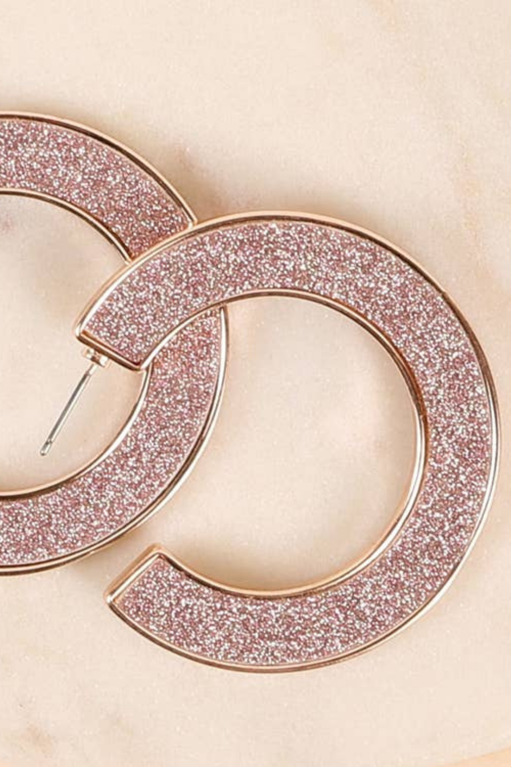 ALL THE GLITZ HOOP EARRINGS