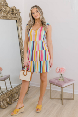 BURST OF COLOR DRESS