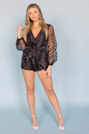 DOTS NIGHT OUT ROMPER