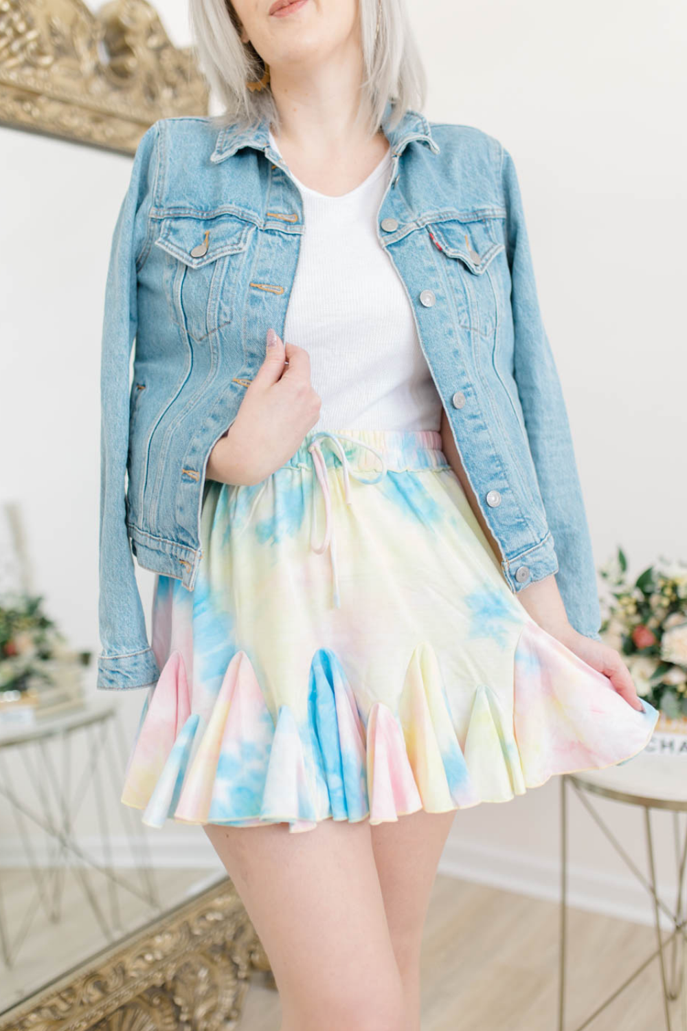 BOUNCE BACK TIE DYE SKIRT