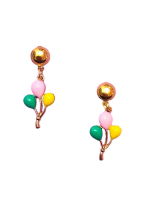 PASTEL ENAMEL BIRTHDAY BALLOON DROP EARRINGS