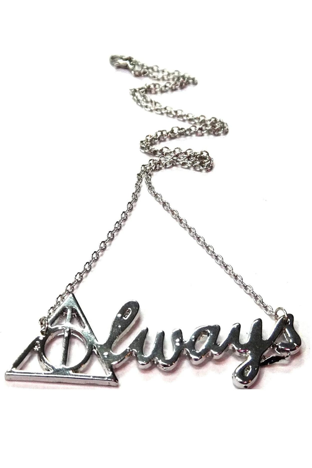 """ALWAYS"" SNAPE HARRY POTTER INSPIRED SILVER NECKLACE"
