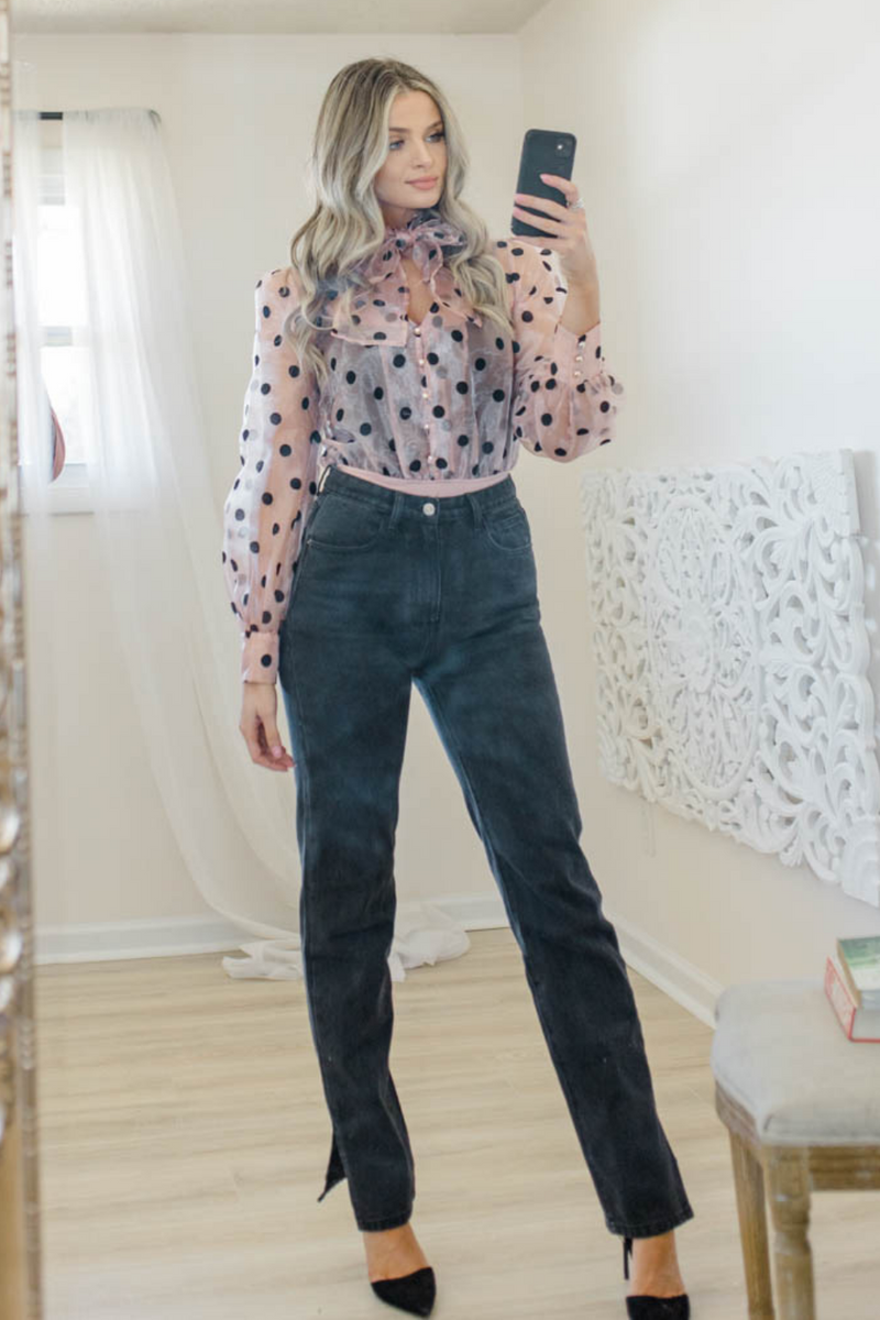 PRETTY IN POLKA DOTS BODYSUIT