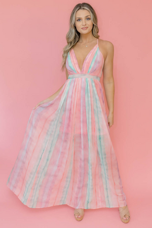SWAYING IN COLOR MAXI DRESS