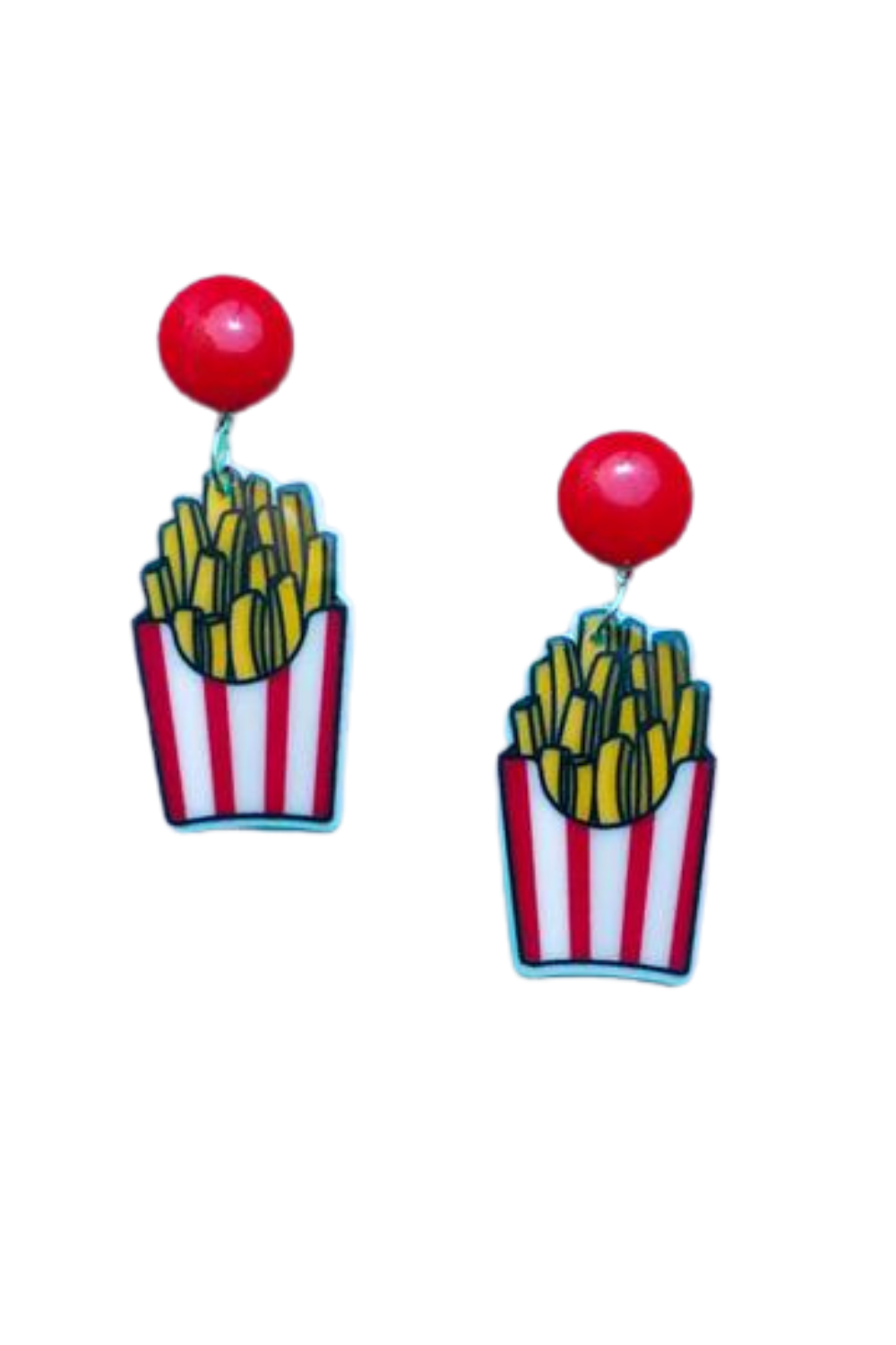 FRENCH FRIES ACRYLIC DROP EARRINGS