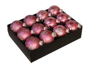 Christmas Balls 24 pcs - Heather