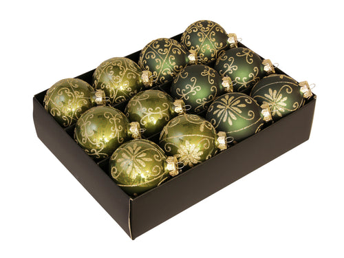 Christmas Balls 24 pcs - Green
