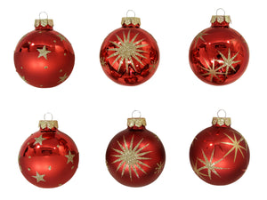 Christmas Balls 24 pcs - Red