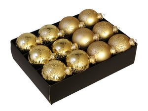 Christmas Balls 24 pcs - Gold