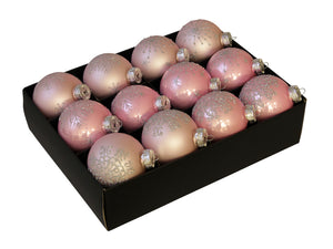 Christmas Balls 24 pcs - Powder Pink