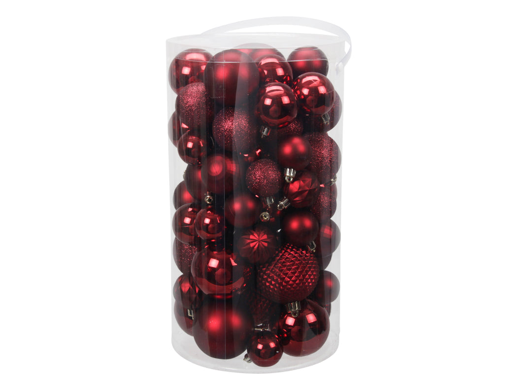 Plastic Christmas Ball (60 pcs)