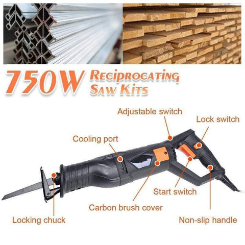 electric-reciprocating-saw-with-blades