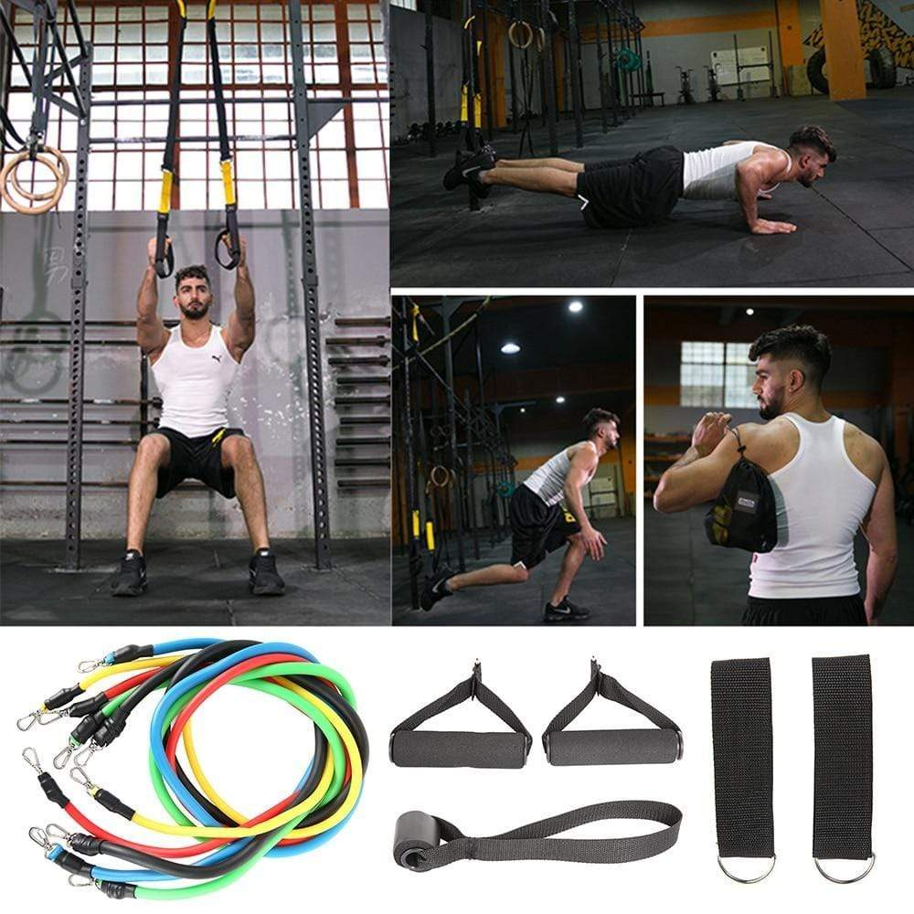 lemon frogs 11pcs Pull Rope Fitness Exercises Resistance Bands Training Workout Yoga