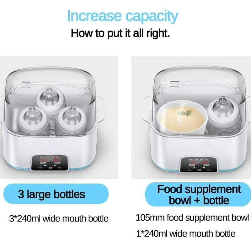 StoreSpree 6 in 1 Remote Control Automatic Intelligent Thermostat Baby Bottle Sterilizer Disinfection