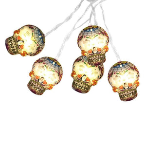 Uturn Shoppe #H40 3M Hanging Halloween Skull Light String Decoration Light 20LED Lights Outdoor Indoor Party Light String Holiday Light