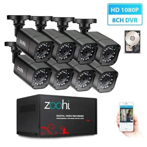 StoreSpree Outdoor CCTV Camera System - Waterproof Home Video Surveillance
