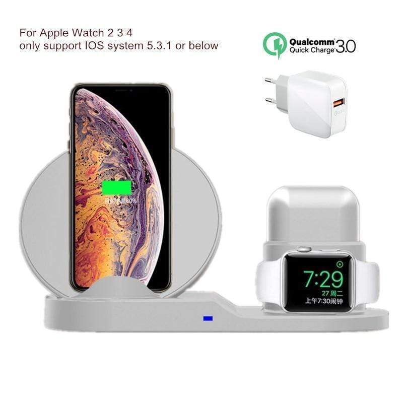 Freshly Suds Wireless™️ 3 in 1 10W Fast Wireless Charger Station