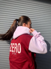 Load image into Gallery viewer, LIMITED EDITION UNISEX RELAXED FIT BURGUNDY & BUBBLEGUM HOODIE - Zero Clothing UK