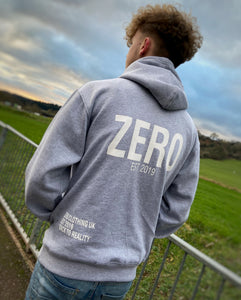 UNISEX RELAXED FIT HOODIE - GREY - Zero Clothing UK