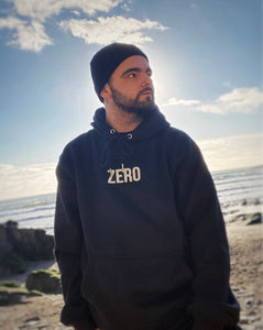 UNISEX RELAXED FIT HOODIE - BLACK - Zero Clothing UK